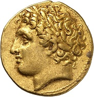 No. 43. Agathocles, Tyrant of Syracuse 317-289. Electrum-hemidrachm or decadrachm. Rare. Very fine. Estimate: 3,000 euros.