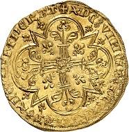 Nr. 865. Frankreich. Johann II. der Gute, 1350-1364. Mouton d'or, o. J. Vorzüglich bis prägefrisch. Taxe: 2.500
