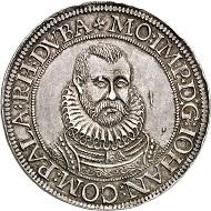 No. 1798. Palatine-Zweibrücken-Veldenz. Johann I, 1569-1604. Taler n.d., Zweibrücken. Very rare. Extremely fine. Estimate: 10,000 euros.