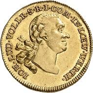No. 1739. Löwenstein-Wertheim-Virneburg. Johann Ludwig Vollrath, 1730-1790. Ducat 1771, Wertheim. Extremely rare. Extremely fine+. Estimate: 14,000 euros.