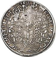 No. 1802. Prussia. Johann Georg, 1571-1598. Taler 1574, Berlin. Very rare. Very fine+. Estimate: 6,500 euros.