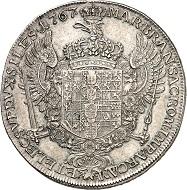 "No. 1952. Prussia. Frederick II, 1740-1786. ""Levantetaler"" 1767, Berlin or Magdeburg. Fine patina. Very fine to FDC. Estimate: 4,000."