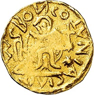 No. 3502. Merovingians. Triens, Cologne, end of 6th century. Extremely rare. Very fine. From Bankhaus Sal. Oppenheim Collection. Estimate: 10,000 euros. Realized: 22,000 euros.