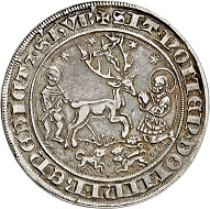 No. 5512: Jülich-Berg. John III, 1511-1539. Guldengroschen n. d., probably Mühlheim mint. Extremely rare. Very fine to extremely fine. Estimate: 60,000 euros. Realized: 70,000 euros.