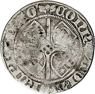 No. 8133. Mainz. Konrad III of Dhaun, 1419-1434. Weißpfennig (groschen) 1425, Bingen. Extremely rare. Extremely fine+. Eberhard Link Collection. Estimate: 500 euros. Realized: 4,000 euros.