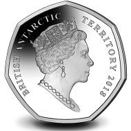 British Antarctic Territory / 50 pence / cupro nickel diamond finish / 8 g / 27.30 mm / Mintage: 6,000.