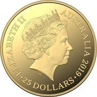Australia / 25 dollars / gold .9999 / 1/5 oz. / 21.69 mm / Mintage: 1,000.