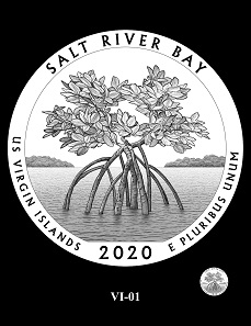 The CCAC and CFA recommendations for the design depicting the Salt River Bay National Historical Park and Ecological Preserve.
