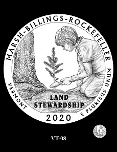 The CCAC and CFA recommendations for the design depicting the Marsh-Billings-Rockefeller National Historical Park.