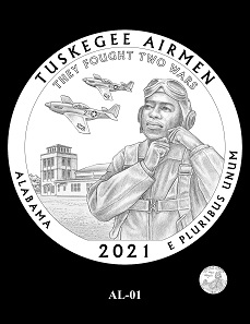 The CCAC and CFA recommendation for the design depicting the Tuskegee Airmen National Historic Site.