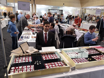 Dimitrios Gerothanasis told us about the successful Nomos AG auction which had taken place the day before the fair. Photo: LS.