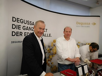 Degussa, too, was present at the fair. Photo: LS.