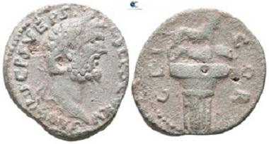 Corinth. Septimius Severus, 193-211. Bronze. Very fine.