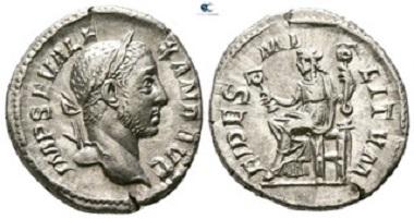 Severus Alexander, 222-235. Denarius, Rome. Very fine.
