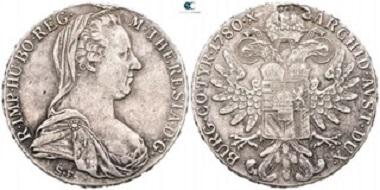 Austria. Maria Theresia, 1740-1780. Thaler, Vienna. Nearly extremely fine.