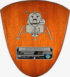 A Spacecraft Identification Plate flown on Apollo 11's lunar module during the mission, which lasted from July 16-24, 1969. Realized: $468,500.