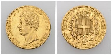 No. 179. Italy. Sardinia / House of Savoy. Carlo Alberto, 1831-1849. 100 lire 1834, Turin. Very fine. Estimate: 1,000 CHF. Starting price: 500 CHF.