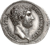 No. 44: Hadrian, 117-138. Cistophorus, after 128, Nicomedia. From Leu Auction 18 (1977), No. 330 (cover piece). An exceptional coin on a wide planchet struck from an excellent die. Extremely fine. Starting price: 125,000 CHF.