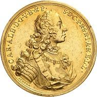 Nr. 97: Deutschland / Bayern. Karl VII., 1726-1744. 20 Dukaten, München. Von außergewöhnlicher Bedeutung. Vorzüglich. Ausruf: 200.000,- CHF.