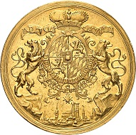 No. 97: Germany / Bavaria. Karl VII, 1726-1744. 20 ducats, Munich. Of extraordinary importance. Extremely fine. Starting price: 200,000 CHF.