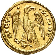 No. 477: Italy / Sicily. Frederick II, 1197-1250. Half augustalis, undated (1231-1250), Brindisi. Finest style. The most beautiful known specimen. Extremely fine. Starting price: 50,000 CHF.