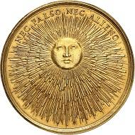Nr. 540: Schweden. Christine, 1632-1654. Goldmedaille von Giovanni Battista Guglielmada, undatiert (um 1685). Aus Sammlung Sacha Guitry, Auktion Bourgey (Mai 1963), Nr. 137. Eine einzigartige Medaille mit einer außergewöhnlichen Provenienz. Vorzüglich. Ausruf: 75.000,- CHF.