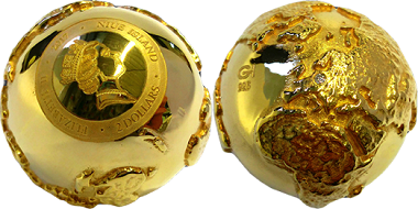3D Golden Diamond Globe.