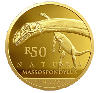 South African / 50 rand / gold .9999 / 15.552g / 27.0mm / Mintage: 1000.