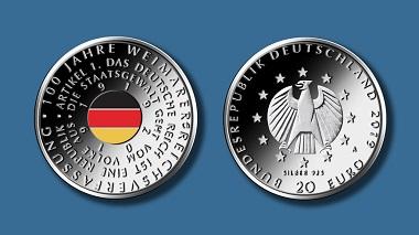 Deutschland / 20 Euro / Silber .925 / 18 g / 32,5 mm / Design: Frantisek Chochola. Foto: Bundesverwaltungsamt.
