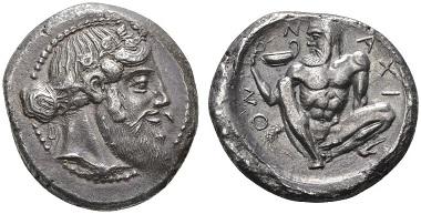 Naxos. Tetradrachme, um 461-460. Vorzüglich. Taxe: 100.000,- CHF. Zuschlag: 145.000,- CHF. Aus Auktion Hess Divo AG 329 (2015), Nr. 20.