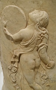 Dancing Maenads. Relief from the theater of Italica / Spain, Augustan age. Archaeological Museum of Seville. Photo: KW.