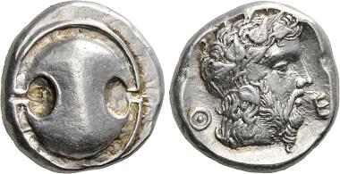 Theben. Stater, um 440-380. Vorzüglich. Taxe: 1.000,- CHF. Zuschlag: 2.400,- CHF. Aus Auktion Hess Divo AG 332 (2017), Nr. 37.