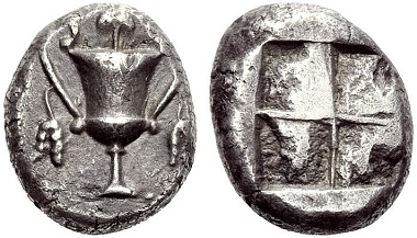 Naxos (Cyclades). Stater, 520-490. Nearly extremely fine. Estimate: 6,500,- CHF. Price realized: 8,500,- CHF. From Hess Divo AG Auction 321 (2012), no. 130.