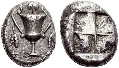 Naxos (Kykladen). Stater, 520-490. Knapp vorzüglich. Taxe: 6.500,- CHF. Zuschlag: 8.500,- CHF. Aus Auktion Hess Divo AG 321 (2012), Nr. 130.