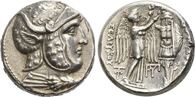 Seleucus I. Tetradrachm, Susa, 305-295. Extremely fine. Estimate: 2,500,- CHF. Price realized: 4,000,- CHF. From Hess Divo AG Auction 328 (2015), no. 65.