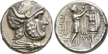 Seleukos I. Tetradrachme, Susa, 305-295. Vorzüglich. Taxe: 2.500,- CHF. Zuschlag: 4.000,- CHF. Aus Auktion Hess Divo AG 328 (2015), Nr. 65.