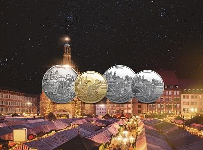 Nürnberg ist in diesem Jahr auf dem Degussa Weihnachtsthaler verewigt.