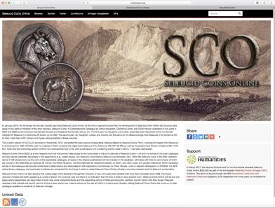 Seleucid Coins Online – ein nützliches Werkzeug der ANS für Sammler und Wissenschaftler.