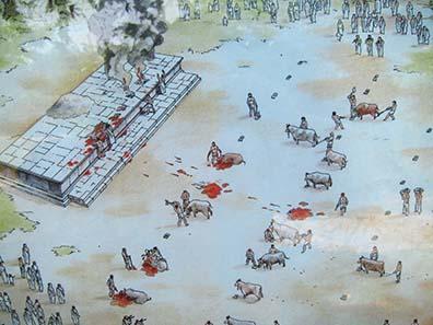 Rekonstruktion des Opfers für Zeus Olympios. Foto: KW.