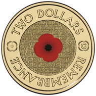 It was the Australian Poppy Coin (2012) that triggered the legal dispute. Photo: Royal Australian Mint.
