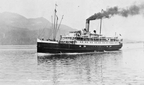 The SS Princess Sophia in 1912.