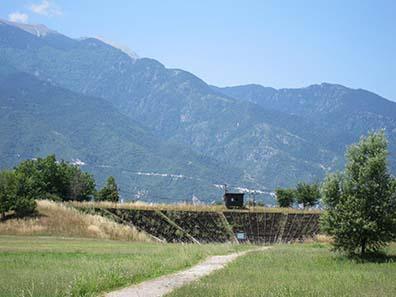 Das hellenistische Theater von Dion. Foto: KW.
