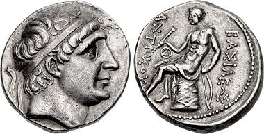 Antiochos I. Soter. Tetradrachme, Ai Khanoum, 271-266. Aus Auktion CNG 109 (2018), 221.