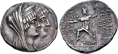 Cleopatra Thea & Antiochos VIII. Tetradrachm, Damaskos mint, 120/19. From sale CNG Electronic Auction 427 (2018), 287