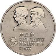 30 Jahre Kampftruppen, 1983. Quelle: Münzkabinett der Staatlichen Museen zu Berlin, [18208577].