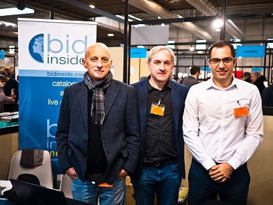 Massimo Bosi (left) and his colleagues represent the Italian auction platform Bidinside. Photo: BS.