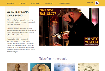 Tales from the Vault is a series of articles designed to highlight the lesser-known parts of the ANA collection.