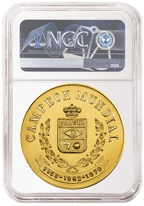 The medal was purchased in a private sale and recently submitted to NGC, which graded it NGC MS 66.