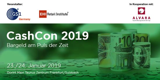 Die CashCon 2019 findet am im Januar 2019 in Frankfurt/Sulzbach statt.
