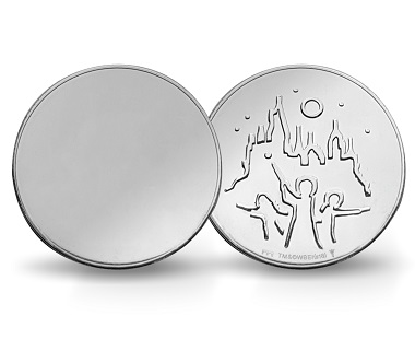 The mysterious Harry Potter Mirror Coin is made of stainless steel.